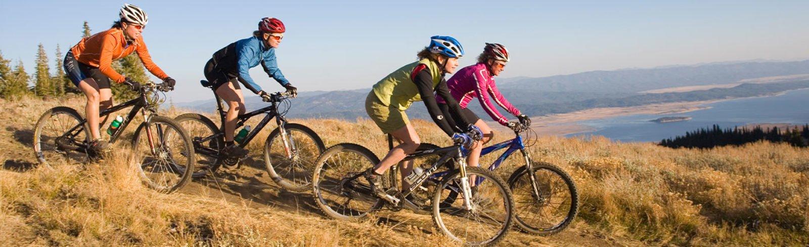 Mountain biking in Tamarack Idaho